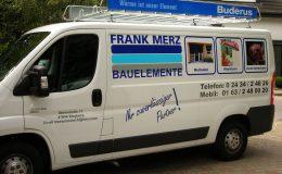 Fahrzeugbeschriftung Kunde Merz Bauelemente